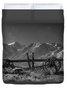 Abandoned Wagon In The High Sierra Nevada Mountains Duvet Cover