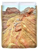 Above Wash 3 In Valley Of Fire Duvet Cover