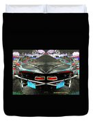 Abstract Black Car Duvet Cover