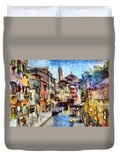 Abstract Canal Scene In Venice L A S Duvet Cover