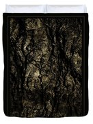 Abstract Gold And Black Texture Duvet Cover