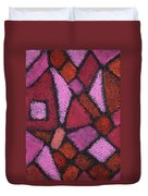 Abstract In Pink Duvet Cover