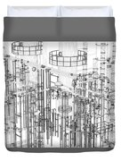 Abstract Industrial And Technology Background Duvet Cover