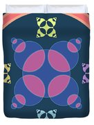 Abstract Mandala Pink, Dark Blue And Cyan Pattern For Home Decoration Duvet Cover