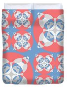 Abstract Mandala White, Pink And Blue Pattern For Home Decoration Duvet Cover