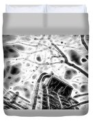 Abstract Modern Building And Tree Silhouette Pattern Design Duvet Cover