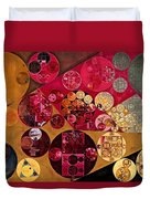 Abstract Painting - Antique Brass Duvet Cover
