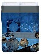 Abstract Painting - Bermuda Grey Duvet Cover