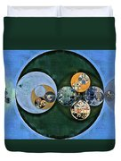Abstract Painting - Cardin Green Duvet Cover
