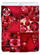 Abstract Painting - Dark Scarlet Duvet Cover