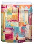 Abstract Pop Art Style Unique Pastel Painting Contemporary Art By Megan Duncanson Duvet Cover