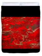 Lava Lust Abstract  Duvet Cover
