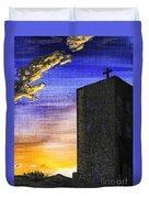 Adobe Church Duvet Cover
