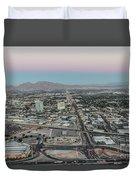 Aerial View Of Las Vegas City Duvet Cover