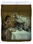 Afternoon Tea Duvet Cover by Isidor Verheyden
