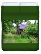 Aging Barn In Woods Series Duvet Cover