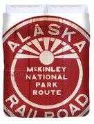 Alaska Railroad Aged Duvet Cover