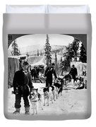 Alaskan Dog Sled, C1900 Duvet Cover