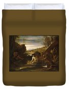 Alexander The Great Rescued From The River Cydnus Duvet Cover
