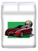 Alfa Romeo Zagato  T Z 3  Stradale With 3 D Badge  Duvet Cover