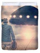 Alien Encounter Duvet Cover