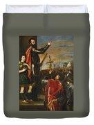 Allocution Of Marquis Del Vasto To His Troops Duvet Cover