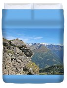 Alps Mountain Landscape  Duvet Cover