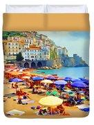 Amalfi Beach Duvet Cover