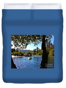 American River Through The Trees Duvet Cover