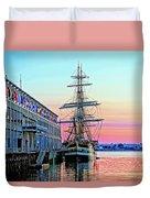 Amerigo Vespucci Tall Ship Duvet Cover