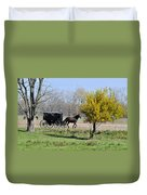Amish Buggy Late Fall Duvet Cover