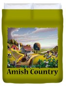 Amish Country T Shirt - Appalachian Blackberry Patch Country Farm Landscape Duvet Cover