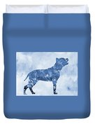 Amstaff-blue Duvet Cover