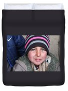 an Afghan child Duvet Cover