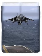 An Av-8b Harrier II Prepares To Land Duvet Cover