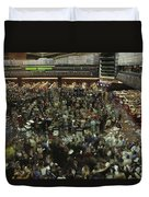 An Elevated View Of Traders Duvet Cover