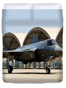 An F-35 Lightning II Taxiing At Eglin Duvet Cover