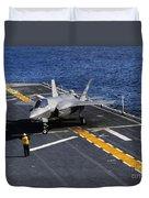 An F-35b Lightning II Makes A Vertical Duvet Cover