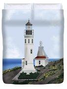 Anacapa Lighthouse California Duvet Cover