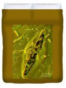 Anaglyph Of Infected Lettuce Leaf Duvet Cover