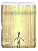 Ancient Alien Angel Duvet Cover