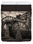 Ancient Chinese Waterwheels Duvet Cover