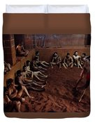 ancient wrestlers of India  Duvet Cover