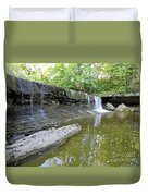 Anderson, Falls, Indiana Duvet Cover
