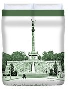 Angel Of Peace Memorial, Munich, Germany, 1903 Duvet Cover