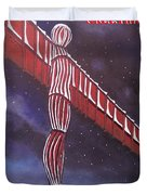 Angel Of The North Christmas Duvet Cover
