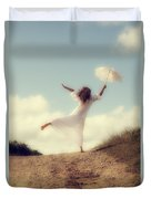 Angel With Parasol Duvet Cover by Joana Kruse