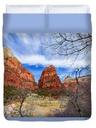 Angels Landing Duvet Cover by Chad Dutson