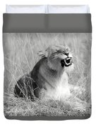 Angry Lioness Duvet Cover