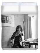 Angus Young Ac/dc Duvet Cover